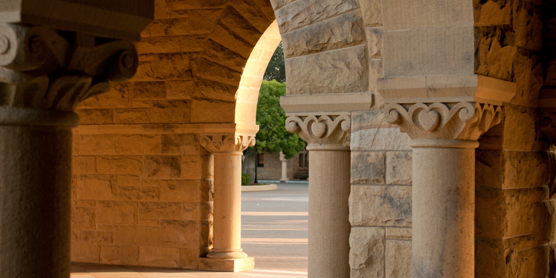 Stanford columns in the Quad